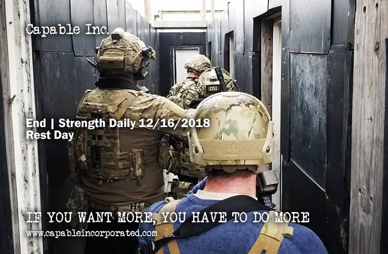Endurance Strength Daily 12-16-2018
